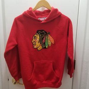 NHL Chicago Blackhawks Hoodie Reebok Med 10/12